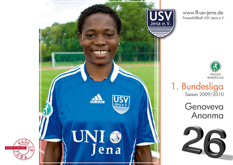 FF USV Jena – Women's Soccer Major League Team – Official Autograph Cards Season 2009/2010More…